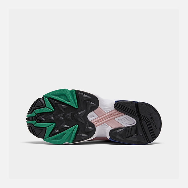 Bottom view of Women's adidas Originals Falcon Casual Shoes in Black/Energy Pink/White