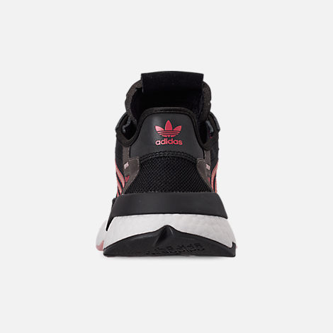 Back view of Women's adidas Originals Nite Jogger Casual Shoes in Black/Pink Spirit/Black