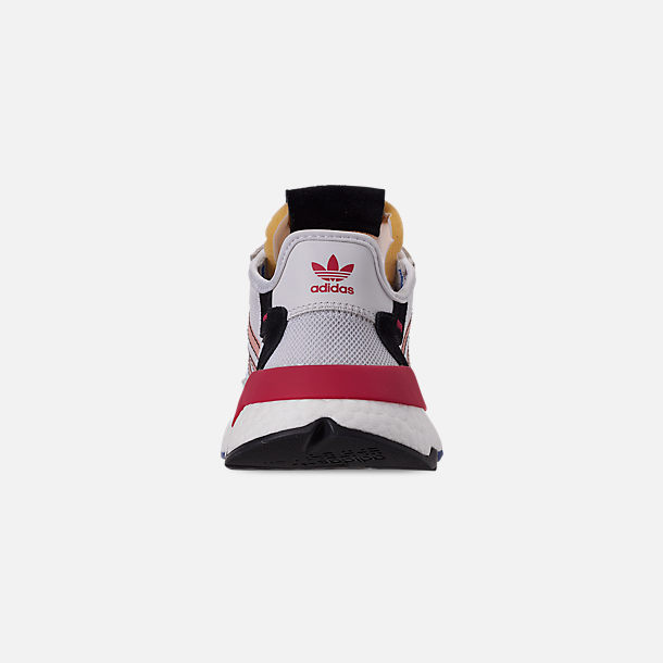 Back view of Women's adidas Originals Nite Jogger Casual Shoes in White/Pink Spirit/Energy Pink