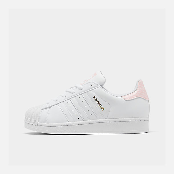 979ac196f126 Right view of Big Kids' adidas Superstar Casual Shoes in White/Black /Metallic