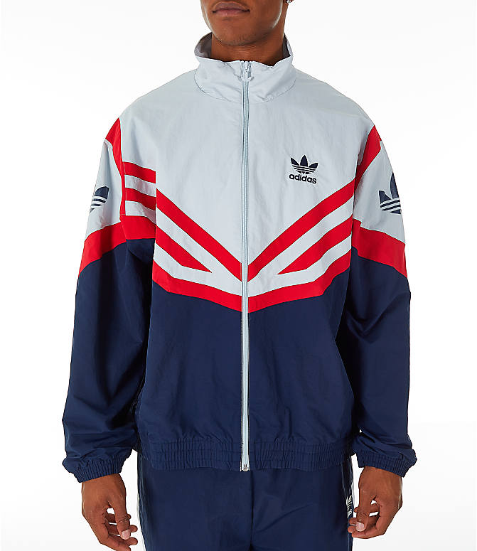 f8bc46bb55b8 Front view of Men s adidas Originals Sportivo Track Jacket in Collegiate  Navy White Red