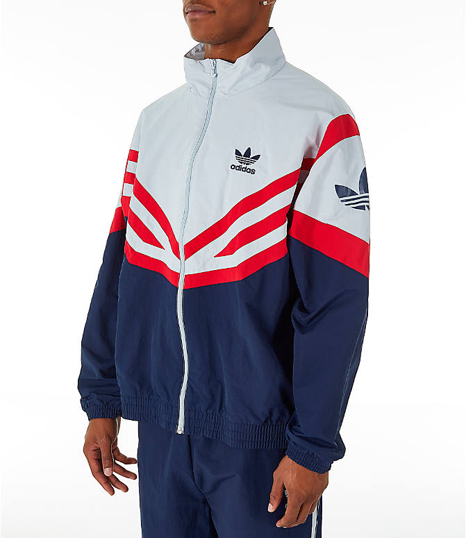 7b216c67847b Front Three Quarter view of Men s adidas Originals Sportivo Track Jacket in  Collegiate Navy White