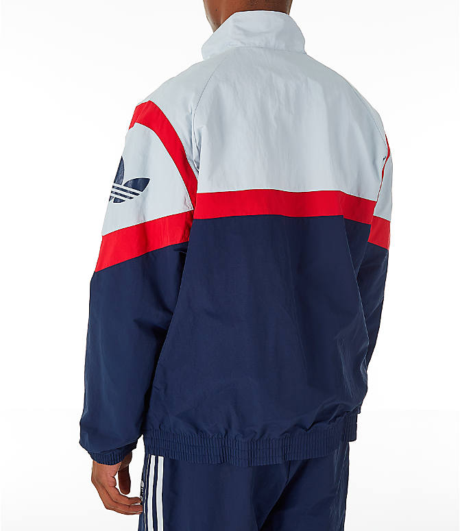 a843c130bcca Back Left view of Men s adidas Originals Sportivo Track Jacket in  Collegiate Navy White