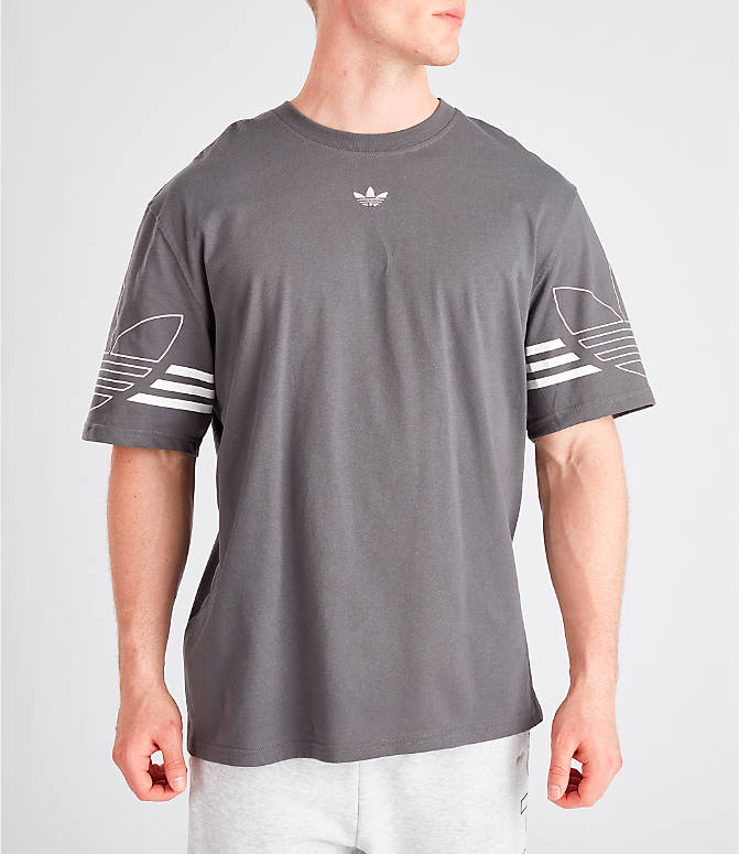 adidas originals Outline Mens T Shirt Trefoil Gym Sports