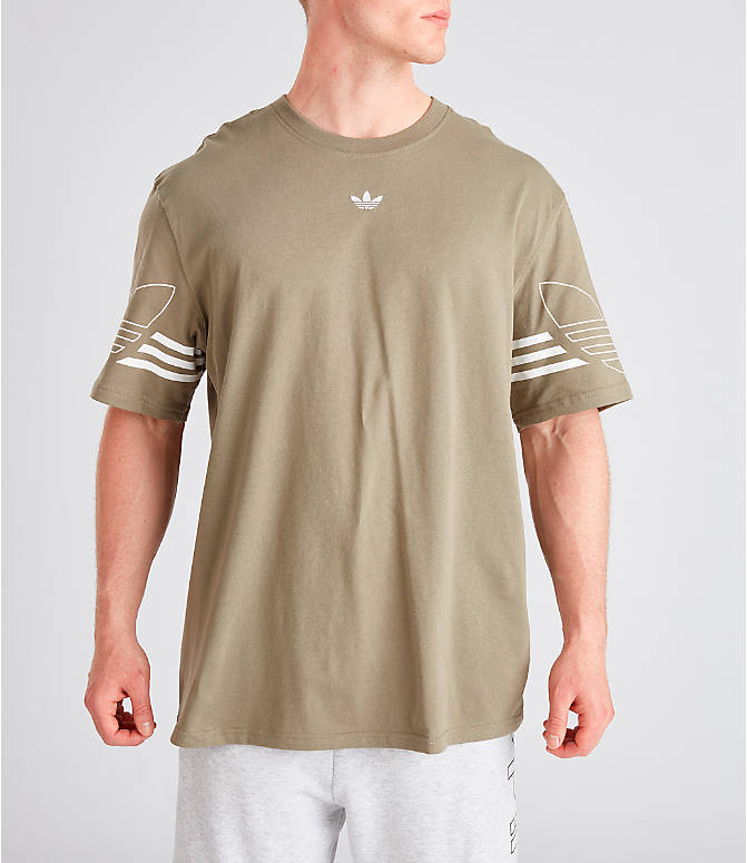 Front view of Men's adidas Originals Spirit Outline T-Shirt in Trace Cargo