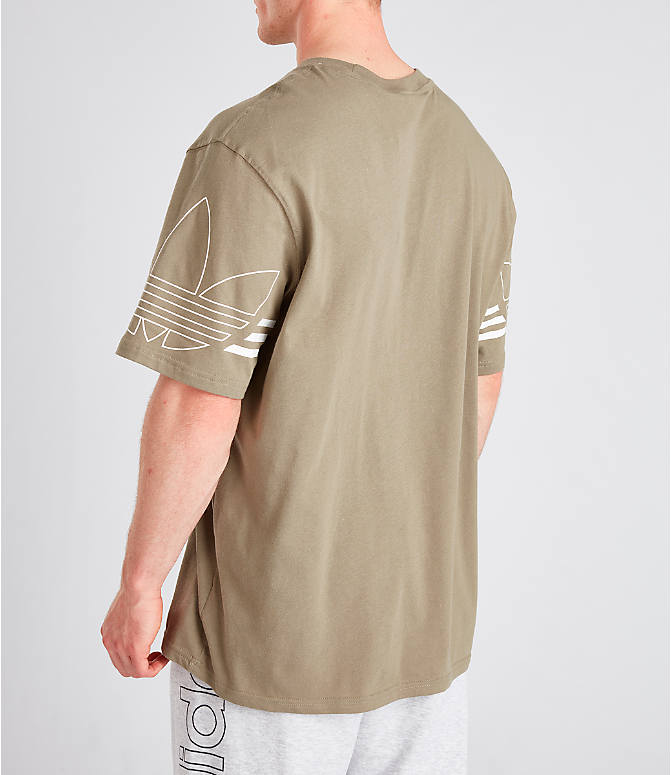 Back Left view of Men's adidas Originals Spirit Outline T-Shirt in Trace Cargo