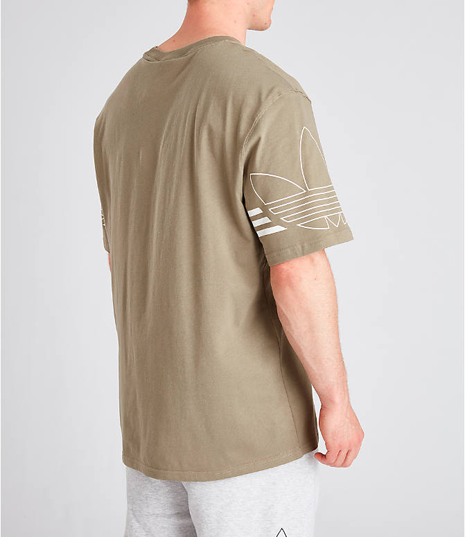 Back Right view of Men's adidas Originals Spirit Outline T-Shirt in Trace Cargo