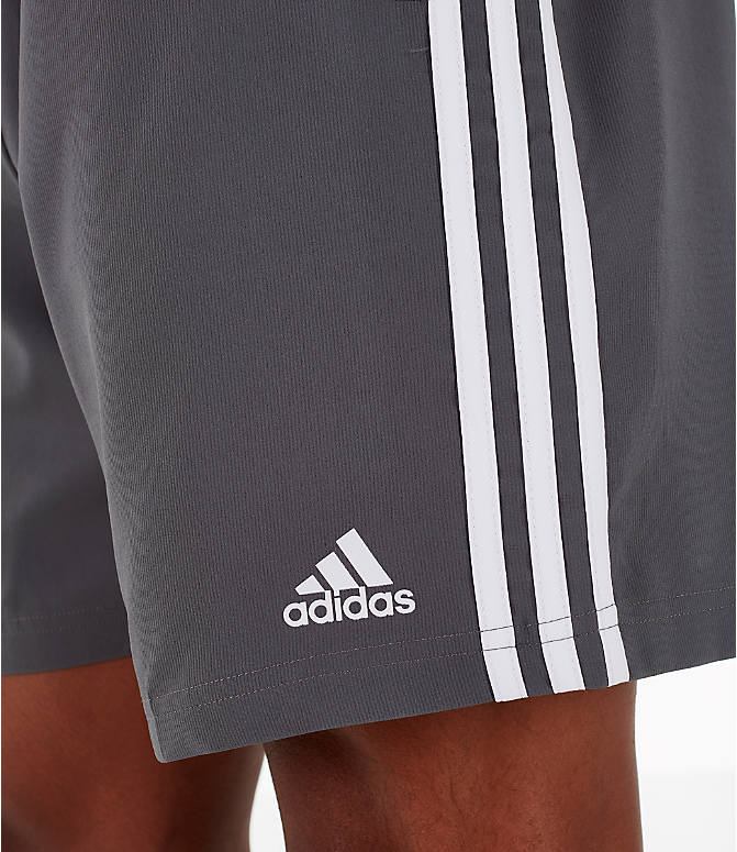 Detail 1 view of Men's adidas 3-Stripes Woven Shorts in Grey