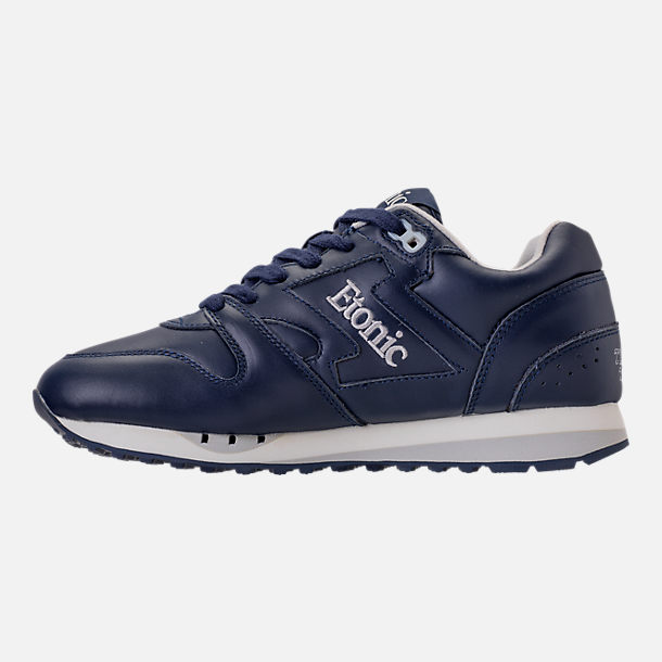 Left view of Men's Etonic Trans Am Leather Casual Shoes in Navy/White/Grey