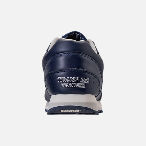 Back view of Men's Etonic Trans Am Leather Casual Shoes in Navy/White/Grey