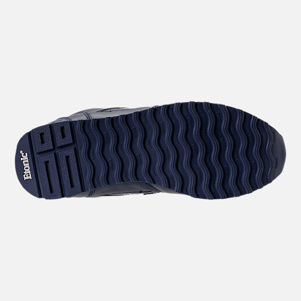Bottom view of Men's Etonic Trans Am Leather Casual Shoes in Navy/White/Grey