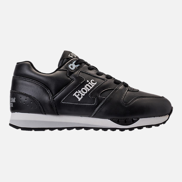 Right view of Men's Etonic Trans Am Leather Casual Shoes in Black/White/Grey