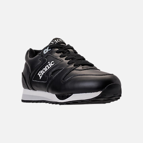 Three Quarter view of Men's Etonic Trans Am Leather Casual Shoes in Black/White/Grey