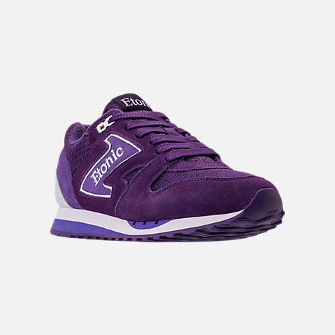 Three Quarter view of Men's Etonic Trans Am Grad Casual Shoes in Purple/White