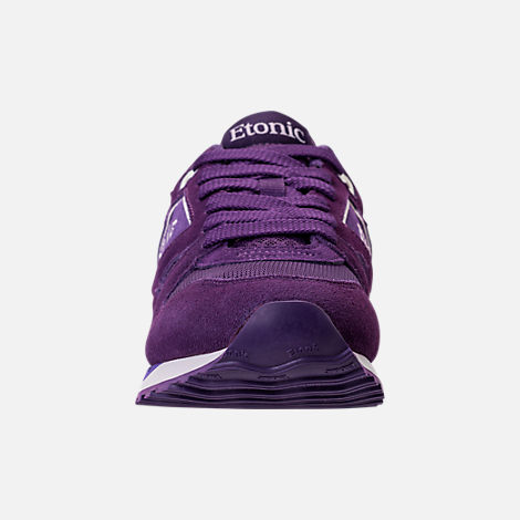 Front view of Men's Etonic Trans Am Grad Casual Shoes in Purple/White