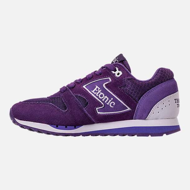 Left view of Men's Etonic Trans Am Grad Casual Shoes in Purple/White