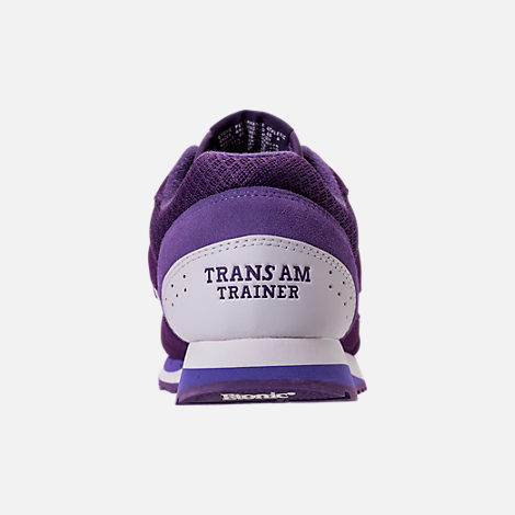 Back view of Men's Etonic Trans Am Grad Casual Shoes in Purple/White