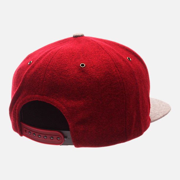 Back view of Zephyr Indiana Hoosiers College Executive Snapback Hat in Team Colors/Grey