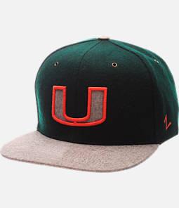 Zephyr Miami Hurricanes College Executive Snapback Hat