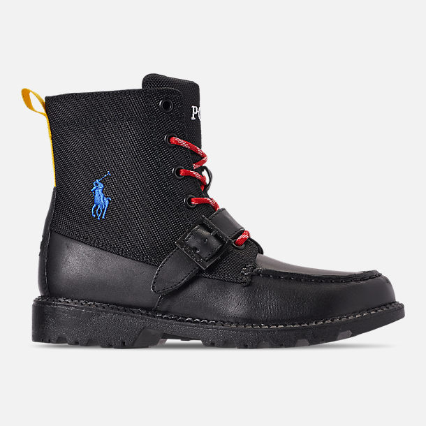 Right view of Boys' Little Kids' Polo Ralph Lauren Ranger Hi II Boots in Black
