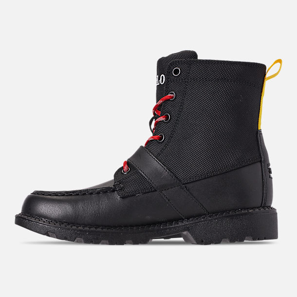 Left view of Boys' Little Kids' Polo Ralph Lauren Ranger Hi II Boots in Black