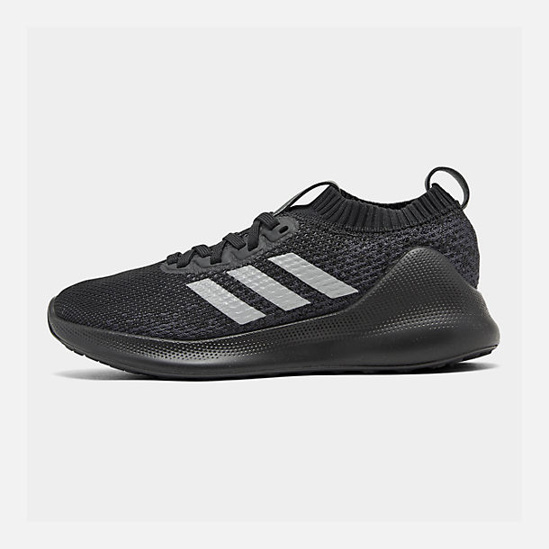 Right view of Boys' Big Kids' adidas PureBounce+ Running Shoes in Core Black/Silver Metallic/Carbon