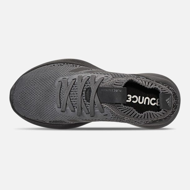 Top view of Boys' Big Kids' adidas PureBounce+ Running Shoes in Core Black/Silver Metallic/Carbon