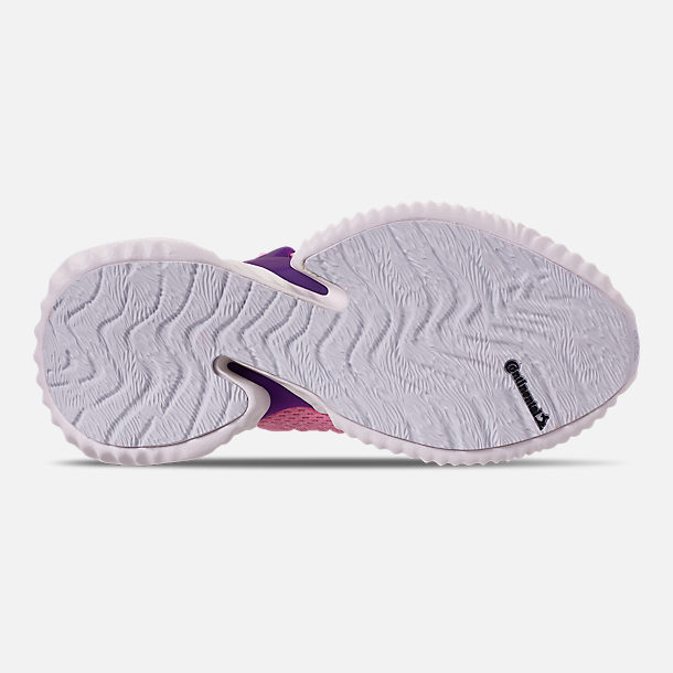 Bottom view of Girls' Big Kids' adidas AlphaBounce Instinct Running Shoes in True Pink/Active Purple/Cloud White