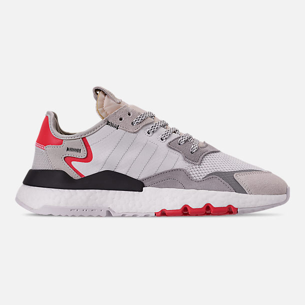 Right view of Men's adidas Originals Nite Jogger Casual Shoes in Footwear White/Crystal White/Shock Red