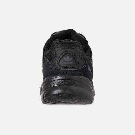 Back view of Boys' Little Kids' adidas Originals Yung-96 Basketball Shoes in Core Black/Core Black/Carbon