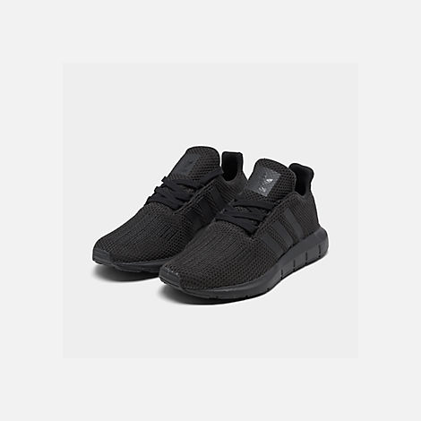 Three Quarter view of Boys' Big Kids' adidas Swift Run Casual Shoes in Core Black/Core Black