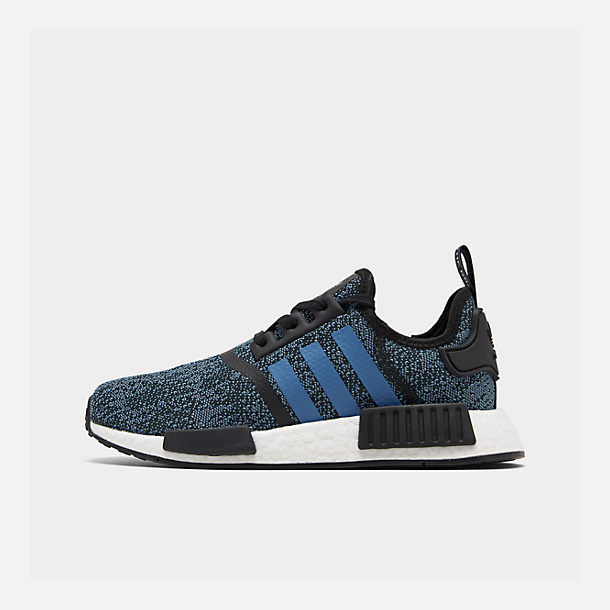 Right view of Big Kids' adidas NMD Runner Casual Shoes in Core Black/True Blue