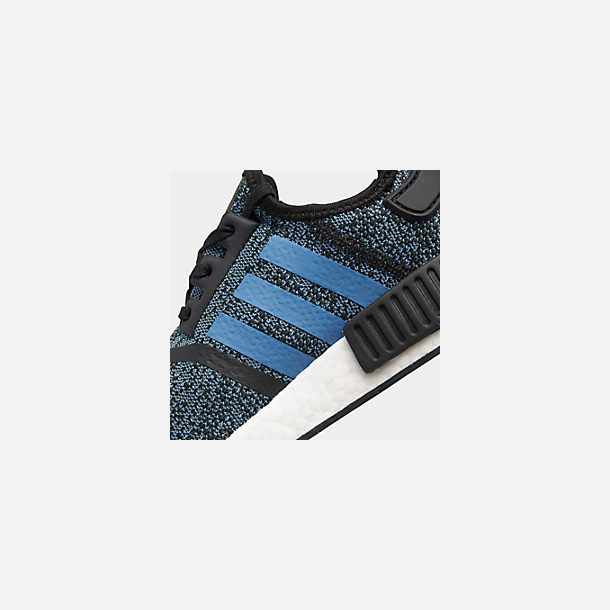 Front view of Big Kids' adidas NMD Runner Casual Shoes in Core Black/True Blue