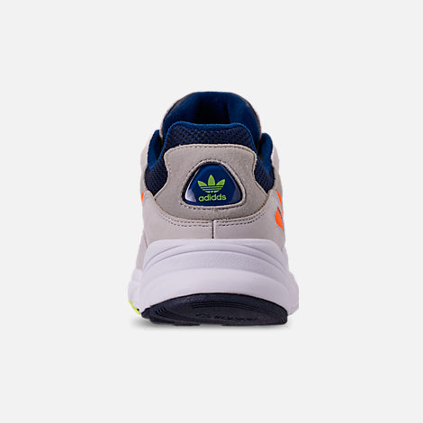 Back view of Men's adidas Originals Yung-96 Casual Shoes in Collegiate Navy/Raw White/Solar Orange