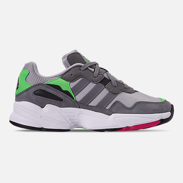 Right view of Men's adidas Originals Yung-96 Casual Shoes in Grey Two F17/Grey Three F17/Shock