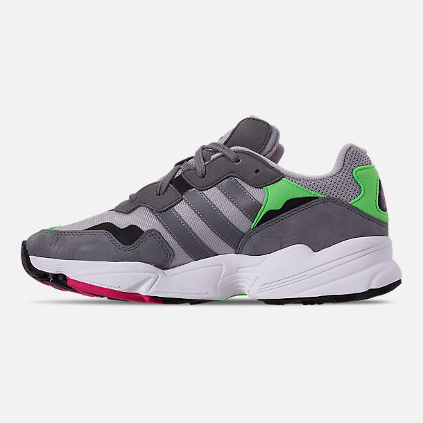 Left view of Men's adidas Originals Yung-96 Casual Shoes in Grey Two F17/Grey Three F17/Shock
