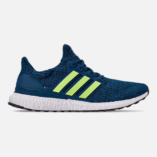 Adidas Ultraboost Men's Running Shoes (Legend Marine/Hi-Res Yellow/Footwear White)