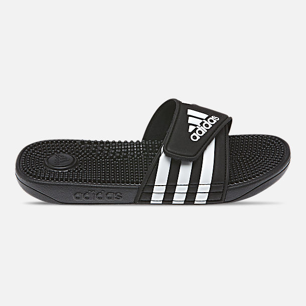 Right view of Little Kids' adidas Adissage Slide Sandals in Core Black/Cloud White/Core Black