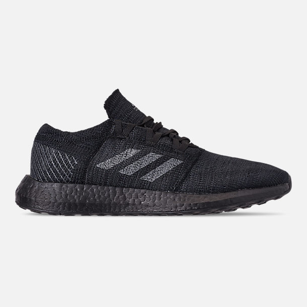 Right view of Men's adidas PureBOOST GO Running Shoes in Core Black/Grey Five/Carbon