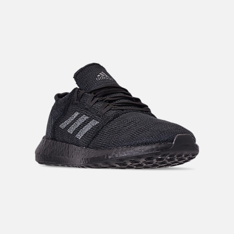 Three Quarter view of Men's adidas PureBOOST GO Running Shoes in Core Black/Grey Five/Carbon