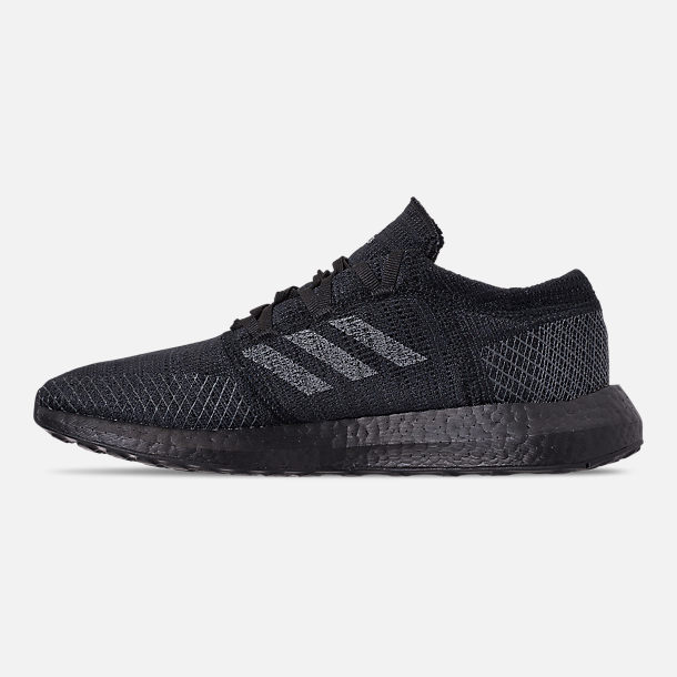 Left view of Men's adidas PureBOOST GO Running Shoes in Core Black/Grey Five/Carbon