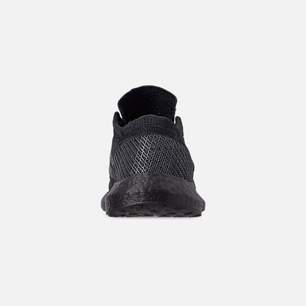 Back view of Men's adidas PureBOOST GO Running Shoes in Core Black/Grey Five/Carbon