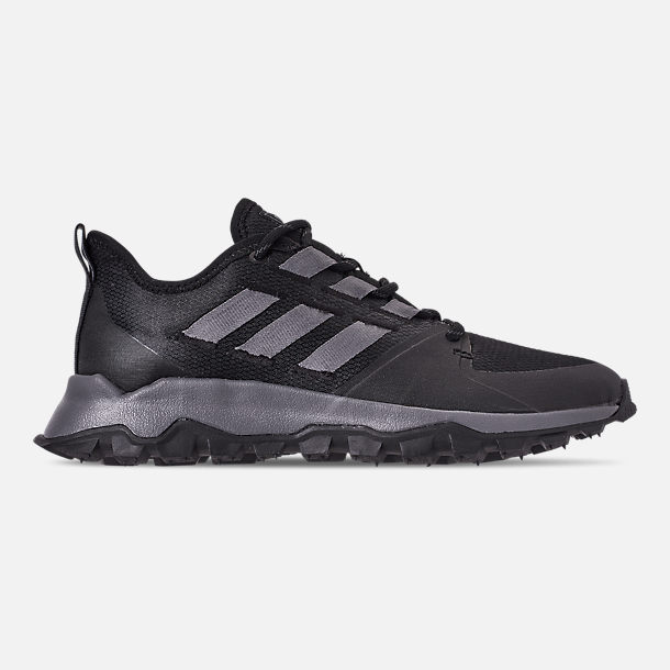 3fd2757dec26 Right view of Men s adidas Kanadia Trail Running Shoes in Core  Black Grey Grey