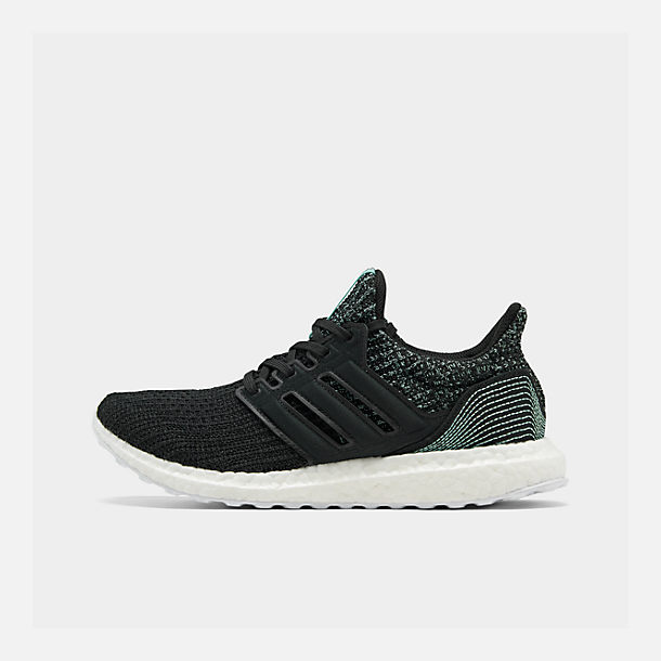Right view of Women's adidas UltraBOOST Parley Running Shoes in Core Black/Core Black/Footwear White