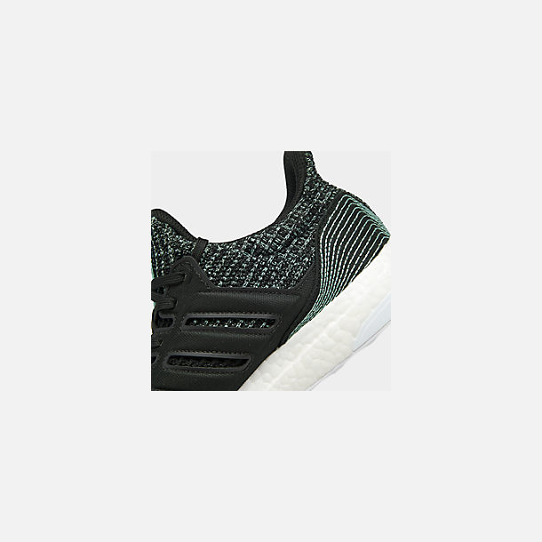 Front view of Women's adidas UltraBOOST Parley Running Shoes in Core Black/Core Black/Footwear White