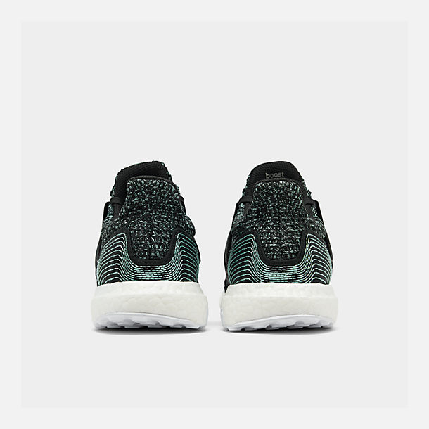 Left view of Women's adidas UltraBOOST Parley Running Shoes in Core Black/Core Black/Footwear White