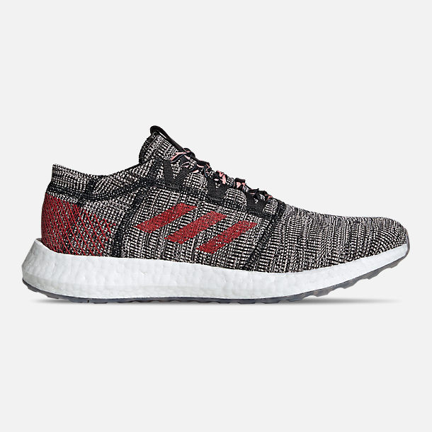 Right view of Men's adidas PureBOOST GO Running Shoes in Core Black/Scarlet/Clear Orange