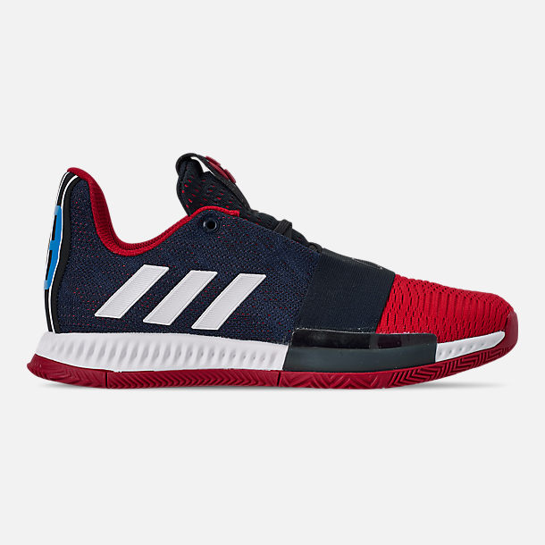 Right view of Boys' Big Kids' adidas Harden Vol.3 Basketball Shoes in Legend Ink/Active Orange/Collegiate