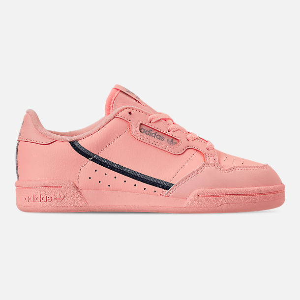 Right view of Girls' Little Kids' adidas Continental 80 Casual Shoes in Clear Orange/Light Brown/Ecru Tint