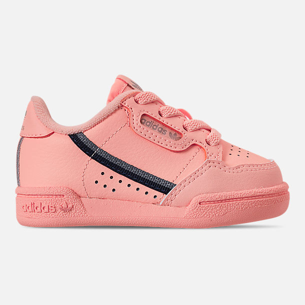 Right view of Toddler Girls' adidas Continental 80 Casual Shoes in Clear Orange/Light Brown/Ecru Tint